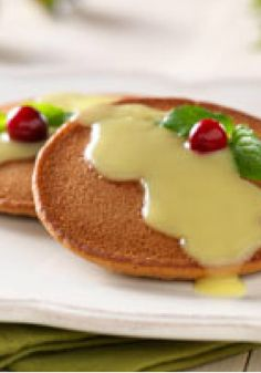 Gingerbread Pancakes with Warm Lemon Sauce — Here's how to make brunch simply brilliant: serve spicy gingerbread pancakes with warm lemon sauce as an entree. (We told you it was brilliant!)