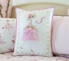diy a ballerina pillow? this one is from pottery barn kids