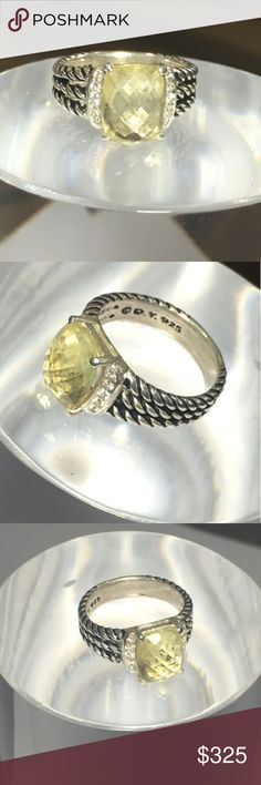 David Yurman lemon citrine petite Wheaton Beautiful David yurman lemon citrine petite Wheaton. This item will be available pending authentication, am posting early just to gauge interest.  Please see my last citrine sale and know you can buy with confidence.  Size 7 if interested feel free to message me 😁 David Yurman Jewelry Rings