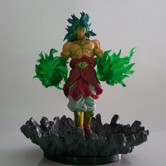 Dragon Ball Z Broly Led Light Green Fire Power Base Dragon Ball Super Action Figure Dbz Broly Broli Decor Light Christmas Gifts Discounts Sale Led Night Lights Lights & Lighting