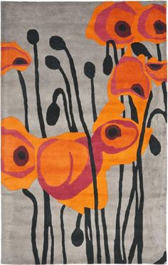 The colors of this rug make for a great contrast! - Safavieh Soho SOH853B Grey and Orange