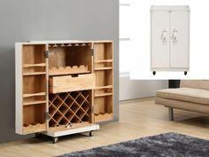 Barschrank Koffer-Bar Holz Kolonial Loric - Weiß günstig kaufen I Möbel Online-Shop Kauf-Unique.de