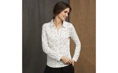 Sweet Floral Print Jersey Shirt