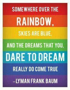 Somewhere over the Rainbow