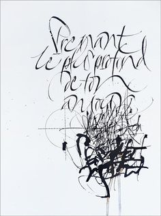 Calligraphy by Sophie Verbeek from a poem by Charles Baudelaire.