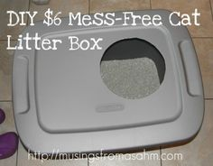 Do It Yourself Cheap Mess-Free Cat Litter Box…telling my mom about this lol
