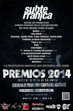 Premios Subterránica Colombia 2014
