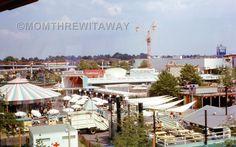1964 KODACHROME SLIDE #38 New York NY World's Fair Carousel Park Bird's Eye View
