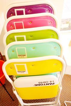 Trina Turk Pantone Chairs, Palm Springs