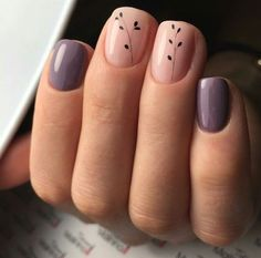 80 Awesome Minimalist Nail Art Ideas - You can find Toenails and more on our Awesome Minimalist Nail Art Ideas - Minimalist Nail Art, Stylish Nails, Trendy Nails, Ongles Or Rose, Do It Yourself Nails, Cute Acrylic Nails, Nagel Gel, Perfect Nails, Simple Nails