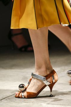 orange prada shoes