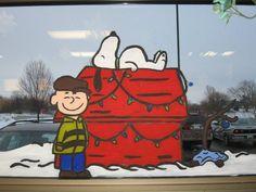 Window Painting.  Patrick? Christmas Crafts For Kids, Diy Christmas Ornaments, Christmas Time, Xmas, Painting On Glass Windows, Window Paint, Christmas Window Display, Christmas Program, Jolly Holiday