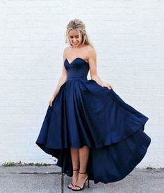 d1d07e6f20 Hermosos vestidos de fiesta en color azul marino (14) - Curso de  Organizacion del