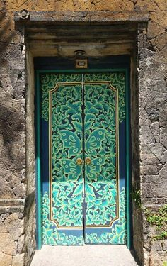 Lovely hand painted door ~ Bali