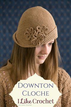 Downton Abbey inspired crochet hat