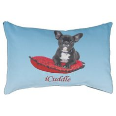Adorable iCuddle French Bulldog Pet Bed - dog puppy dogs doggy pup hound love pet best friend