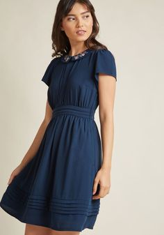 435d2ea1a55e Feminine Shirt Dress with Embroidered Collar in 2X - Short Sleeve A-line by  ModCloth