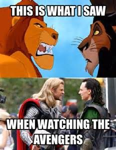 watching Thor and Loki interact with each other is like watching The Lion King all over again. Thor X Loki, Loki Marvel, Marvel Films, Marvel Dc Comics, Marvel Heroes, Marvel Quotes, Funny Marvel Memes, Avengers Memes, Funny Comics