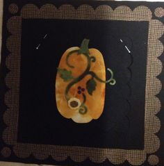 """Pumpkin and Vine 7"""" Pin Up for Ackfeld 12"""" wire frame."""
