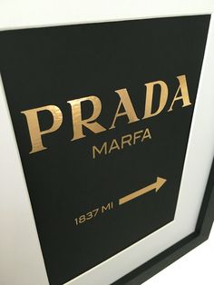 Gold foiled Prada from The Pretty Addicted