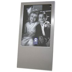 Personalized 5 x 7 Vertical Silver Picture Frame - Create A Favor
