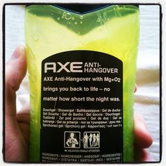 Anti-Hangover Showegel - Deal with it. #AXE