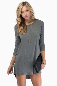 In Tunic with the Times Dress. So simple and cute.