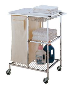 Another great find on #zulily! Wheeled Laundry Station by Organize It All #zulilyfinds
