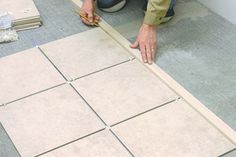 Ceramic tile is the most durable flooring you can install. Ceramic Floor Tiles, Wall And Floor Tiles, Porcelain Tile, Most Durable Flooring, Diy Flooring, Flooring Ideas, Entryway Tile Floor, How To Lay Tile, Tile Layout