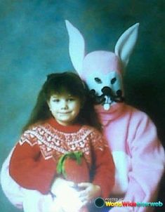 This has to be an old-timey villain dressed up as a bunny, right? | 19 Vintage Easter Bunny Photos That Will Make Your Skin Crawl