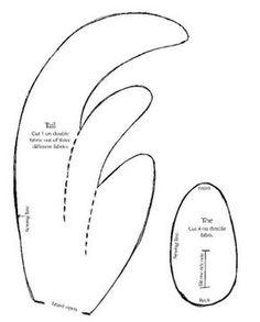 Moldes Para Artesanato em Tecido: Galo de tecido com moldes