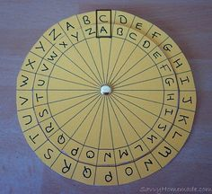 How to make a Cipher Wheel for secret codes