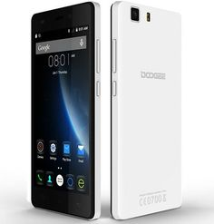 DOOGEE X5 Pro smartphone use 5.0 inch Corning Gorilla Glass screen, has 2G RAM + 16G ROM with MTK6735 Quad Core processor, 2MP front + 5MP rear dual camera, installed Android 5.1 OS.