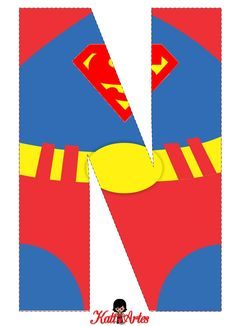 Superman Free Alphabet. Alfabeto Gratis de Superman.