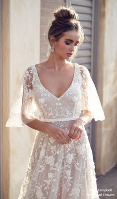 New Anna Campbell wedding dresses for 2019 from the Wanderlust Collection. Beaded, lace, and sparkling wedding dresses from this top Australian bridal designer. Lace Wedding Dress, Bridal Dresses, Wedding Gowns, Lace Maxi, Polka Dot Wedding Dress, Dress Lace, Beachy Wedding Dresses, Vintage Boho Wedding Dress, Wedding Dress Quiz