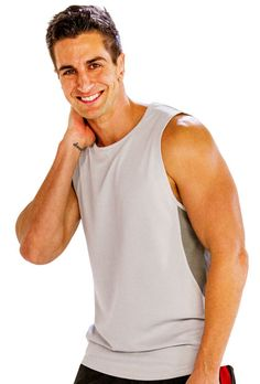 UP TO 25% OFF, Comfy Greyish White Tank Top for Men