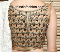 net_back_stone_work_blouse