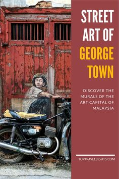 """Discover the street art of George Town. This city became famous worldwide in What started with 6 murals by the """"Banksy of Asia"""" has become part of the identity of the city, and attracts millions of visitors every year. Malaysia Travel Guide, Travel Sights, Travel Destinations, Asia City, Street Mural, Best Street Art, Photo Story, Ultimate Travel, George Town"""
