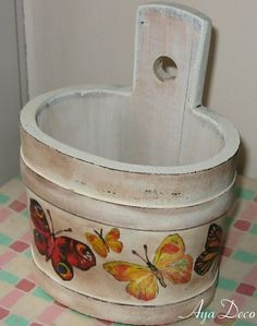 Todos os tamanhos | Wooden decoupage jar | Flickr – Compartilhamento de fotos!