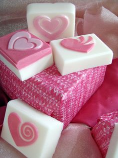 cute for valentines! heart soap