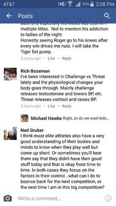 Challenge vs threat