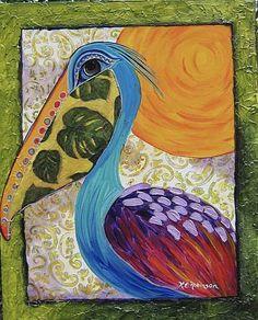 Art 'Wild Pelican #0311 16x20' - by Ke Robinson from BIRDS