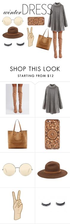 """#135 winter dress"" by linalia ❤ liked on Polyvore featuring Qupid, WithChic, Sole Society, Felony Case, Victoria Beckham, rag & bone and Lucky Brand"