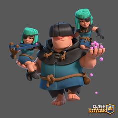 I Had the pleasure to create the Rascals characters for Clash Royale - Supercell. Character Modeling, Game Character, Character Design, Clash Of Clans, Desenhos Clash Royale, Dragon Clash, Clash On, Pillos, Dragon Girl