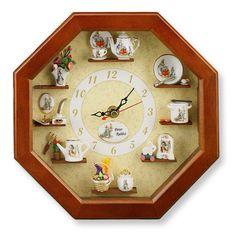 Beatrix Potter temático Muro de Trabajo Reloj