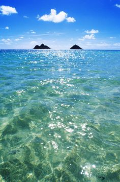 Hawaii Oahu Lanikai Beach View Of Water Sky Clouds And Mokulua Islands Canvas Art - Carl Shaneff Design Pics x Hawaii Life, Oahu Hawaii, Hawaii Beach, Places To Travel, Places To Visit, Travel Destinations, North Shore Hawaii, Hawaii Pictures, Beach Pictures