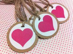 Kraft Gift Tags  Wedding Valentine's Day by PaperDiamondDesign, $5.70