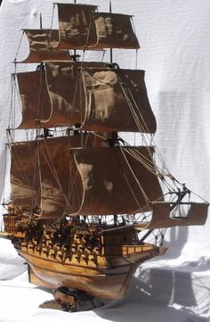Man of War SHIP Completely Hand Crafted Circa 1985 Vintage 19th Century Replica | eBay