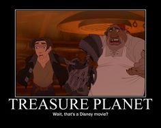 Probably the coolest Disney feature of its time period. Murderous pirates, death-trapped planets, a steampunk Star Wars-meets-Treasure island setting, Jim Hawkins...