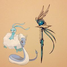 Pokeapon Fusion - Altaria & Dragonair. Request by @greg_88_. Sorry guys! I'm not accepting any more requests.